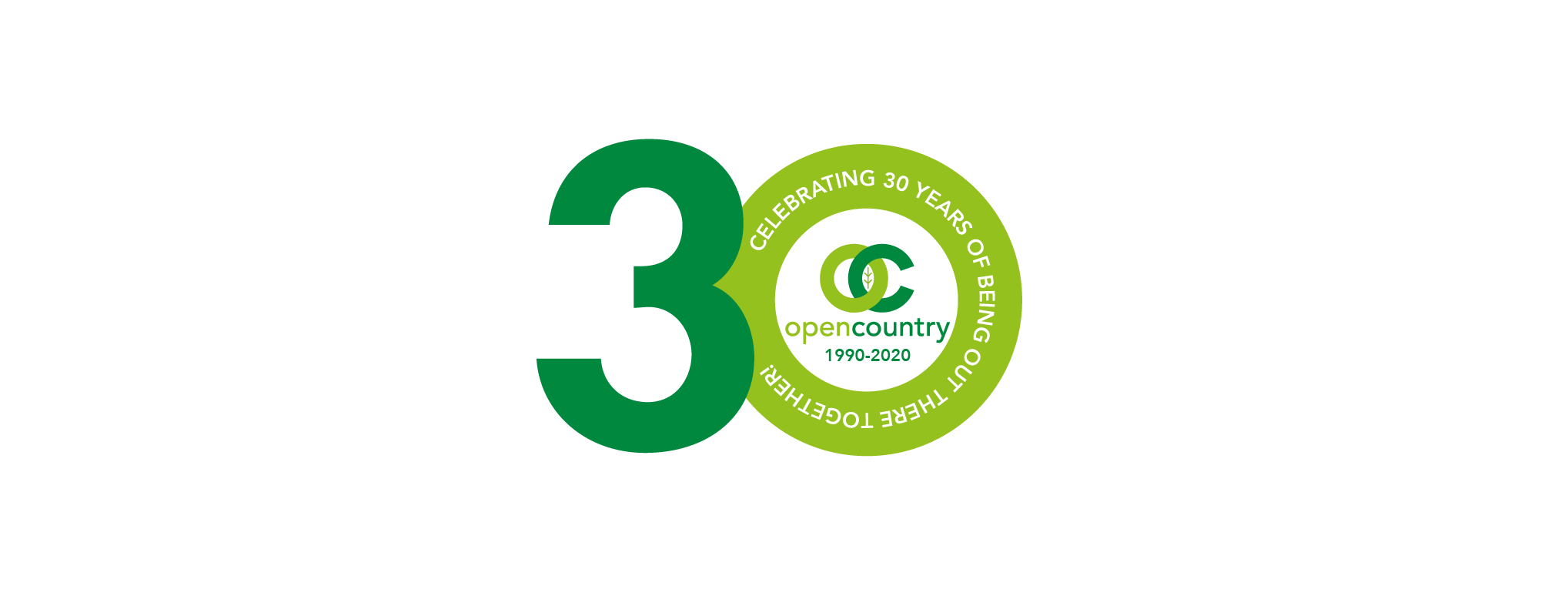 Open Country's 30th anniversary logo