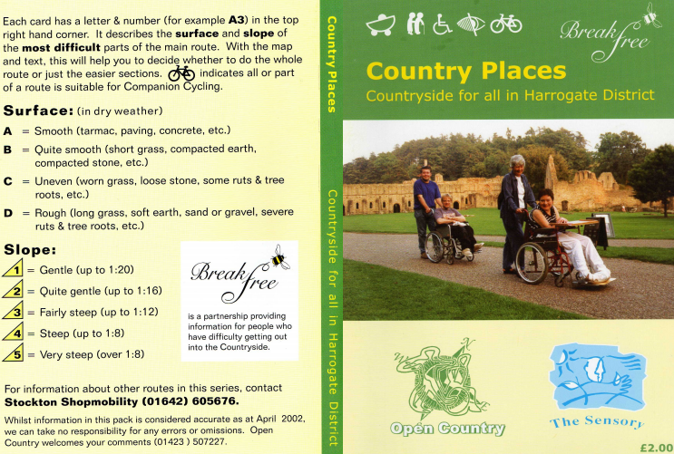 front cover of Country Places - Harrogate District