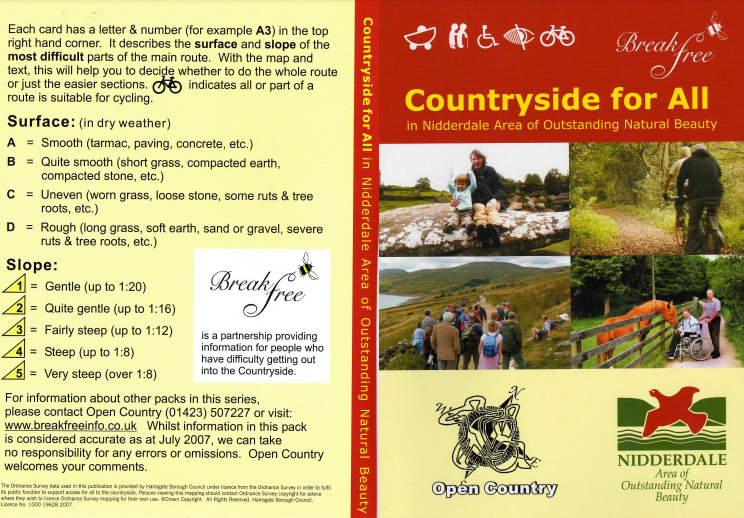 front cover of Nidderdale Countryside for All pack