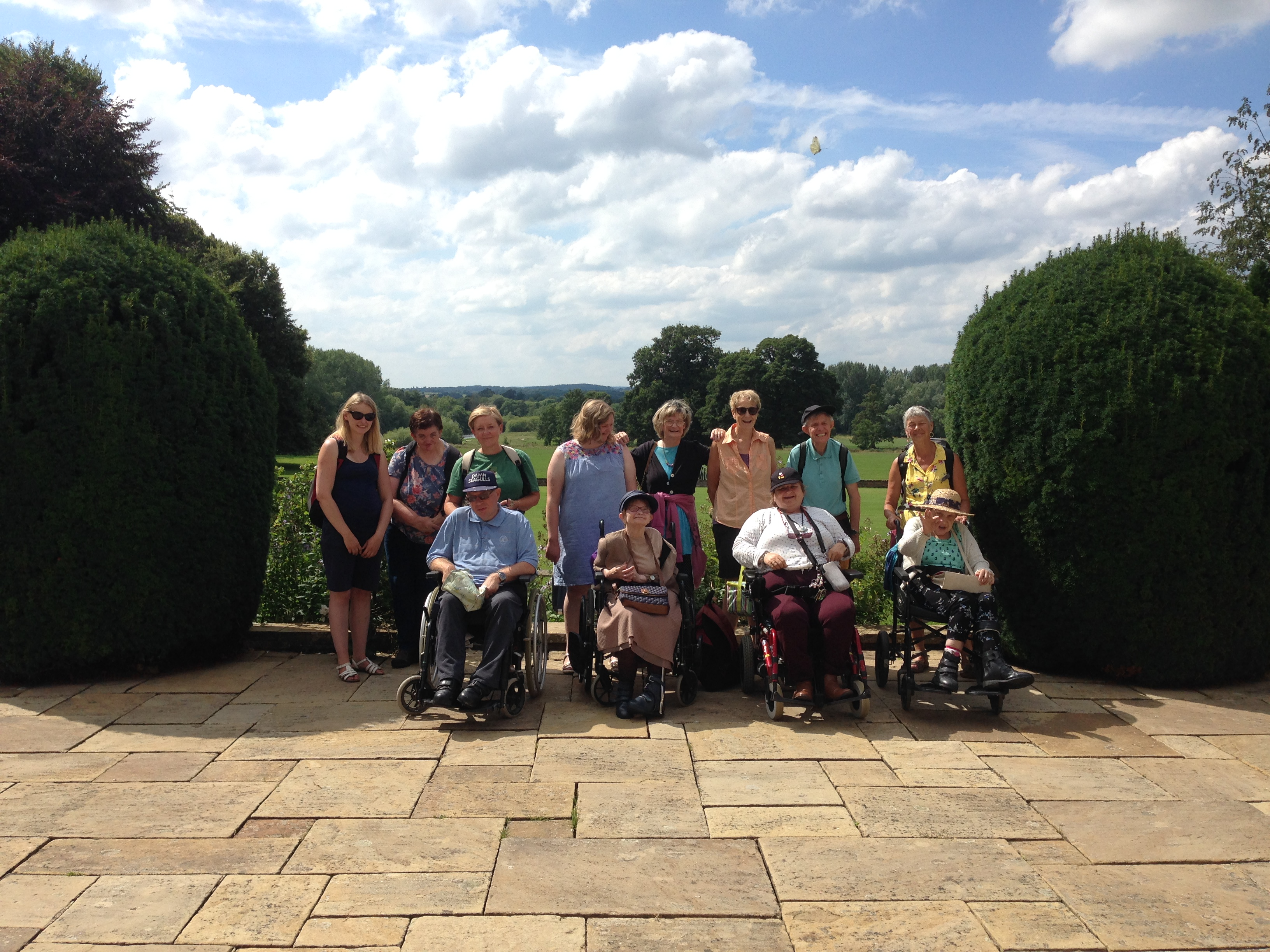 The Outings Group at Newby Hall Gardens in the summer.