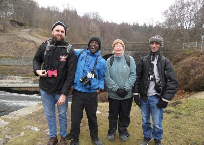 Walking at Langsett Reservoir with new friends