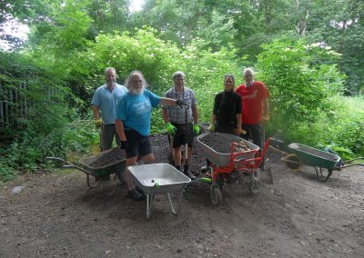 Working with Wakefield District Cycle Forum on a new path near Nostell